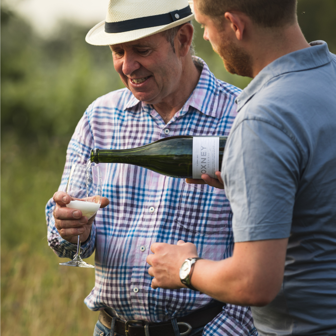 The Oxney view on sparkling bubbles